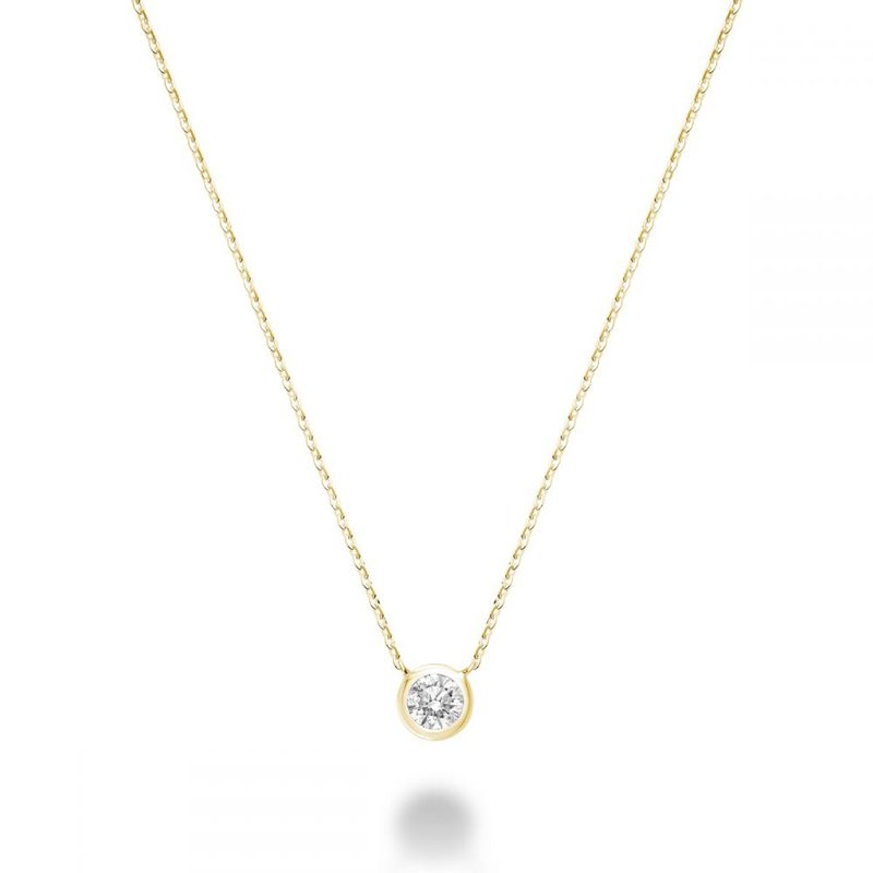 GNM Jewellery Collection 10K Solitaire Necklace, 0.13 TDW