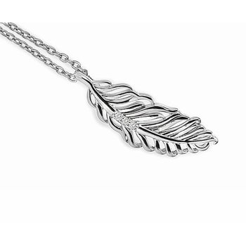 """Feather"" Diamond Pendant"