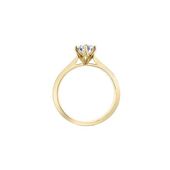 Oval Solitire in 18 karat yellow gold 1.06ct