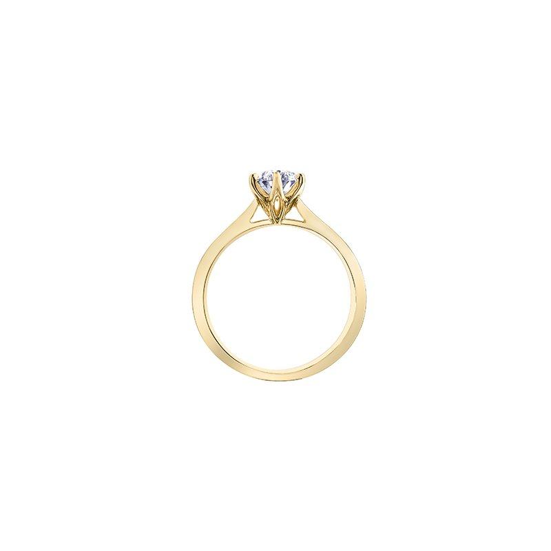 Maple Leaf Diamonds Oval Solitire in 18 karat yellow gold 1.06ct