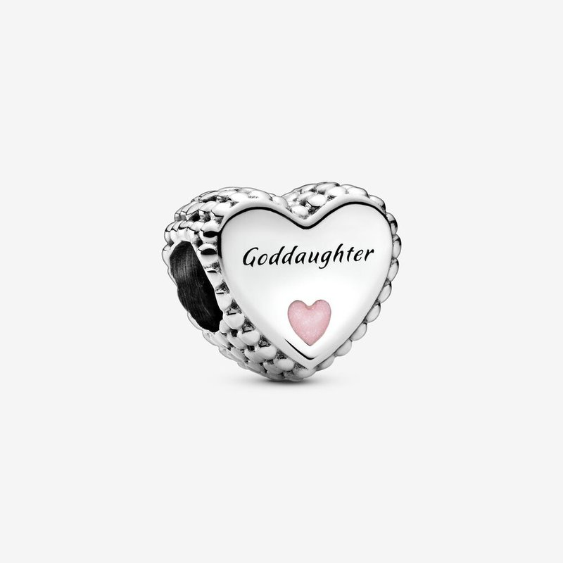 Pandora Goddaughter Heart Charm