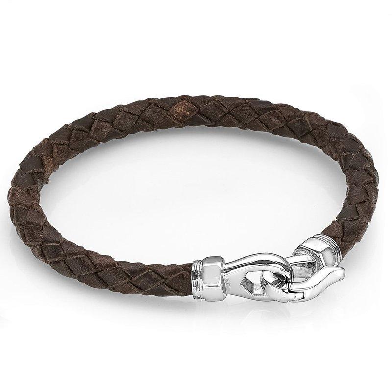 Italgem Brown Leather Bracelet
