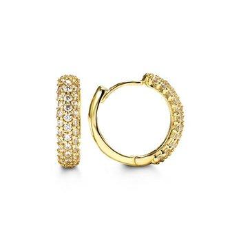 Bella 10K Yellow Huggie Earrings