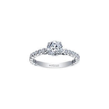18k Tides of Love Canadian Diamond Engagement Ring
