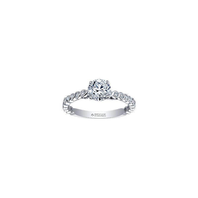 Maple Leaf Diamonds 18k Tides of Love Canadian Diamond Engagement Ring
