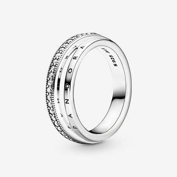 Triple Band Pavé Ring, size 7.5