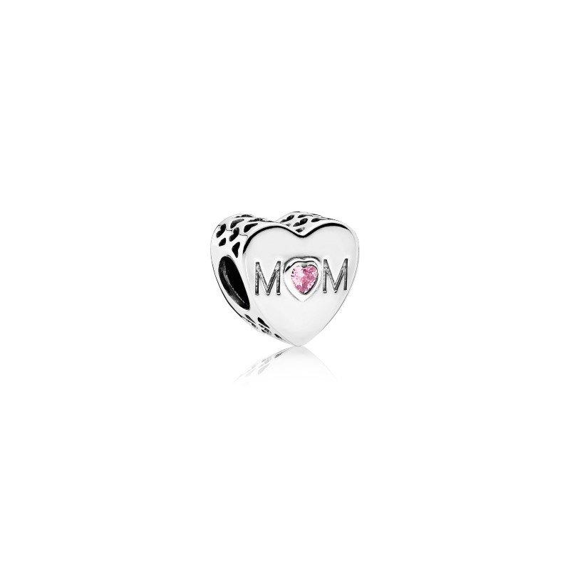 Pandora Pink Mom Heart Charm