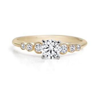 14K Multi Stone Engagement Ring, 0.52 TDW