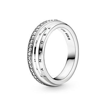 Triple Band Pavé Ring, size 6.0