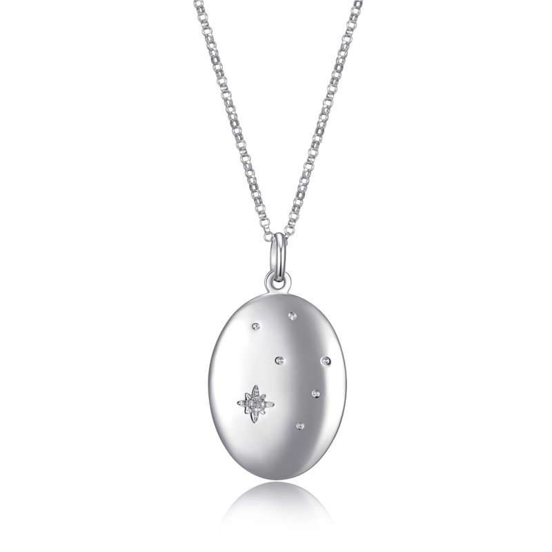 Reign Sterling Silver Oval Locket Necklace