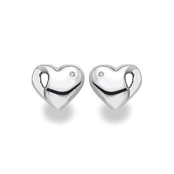 """""""Heartbeat"""" Diamond Earrings"""