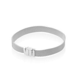 "Reflexions Sterling Silver Mesh Bracelet, 7.9"""