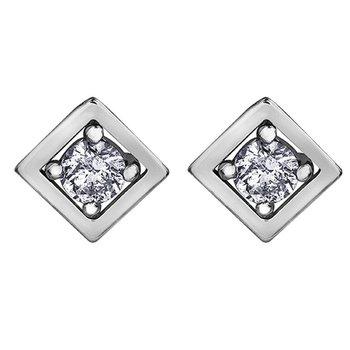10K Diamond Studs, 0.08 TDW