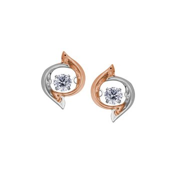 10k Pulse Stud Earrings. 0.22 TDW