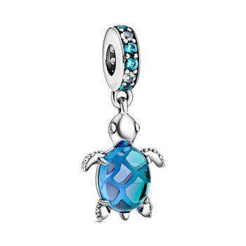 Murano Glass Sea Turtle Dangle Charm