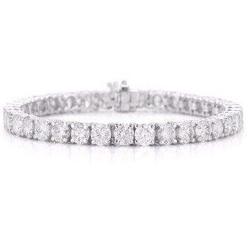 14K Diamond Tennis Bracelet, 4.99 TDW