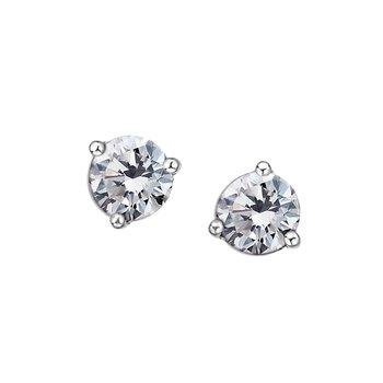 10K April Birthstone Earring