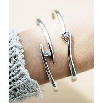 925 Silver & Diamond Bangle Bracelet