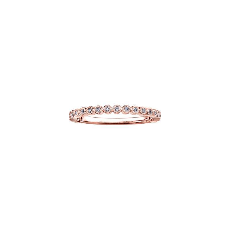 Chi Chi Designs Chi Chi Collection 10k Rose Gold Diamond Band, 0.10 tdw