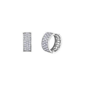 10kt white gold Diamond Envy hoop earrings 4ct total weight