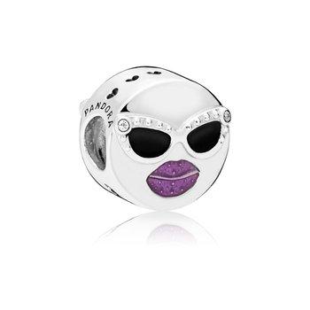 Cool Face Emoticon Charm - FINAL SALE
