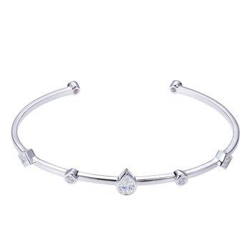 Sterling Silver Multi Stone Cuff Bracelet