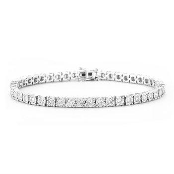 """14kw Diamond Tennis Bracelet 7"""" .95tcw"""
