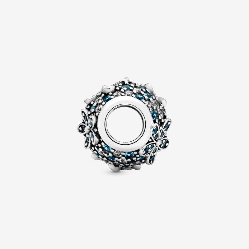 Pandora Teal Pavé Daisy Flower Charm