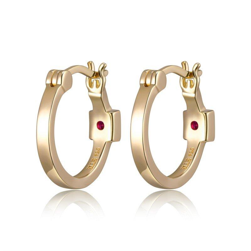 ELLE Gold Plated Sterling Silver Hoop Earrings