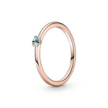 Light Blue Solitaire Ring, size 6.0