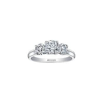 14K 3 Stone Engagement Ring