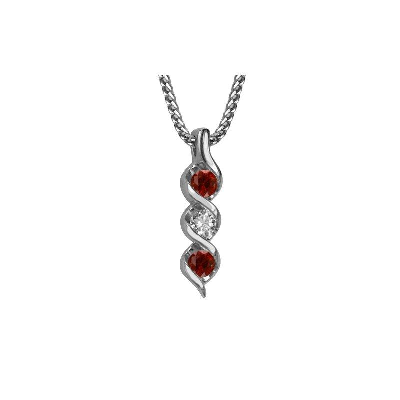 "GNM Jewellery Collection 14k Diamond & Ruby Pendant, 18"""