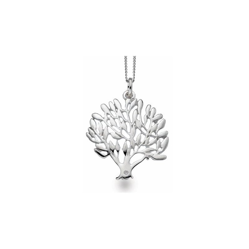 "White Ice ""Tree of Life"" Diamond Pendant"