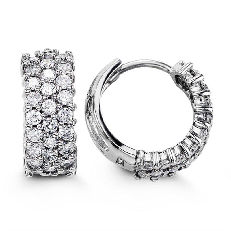 Bella Sterling Silver Bella Huggie Earrings
