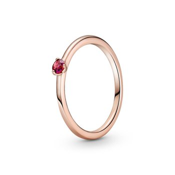 Red Solitaire Ring, size 7.0