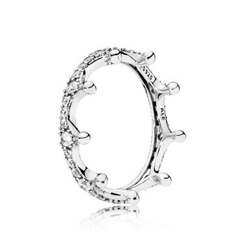 Clear Sparkling Crown Ring, size 7.0