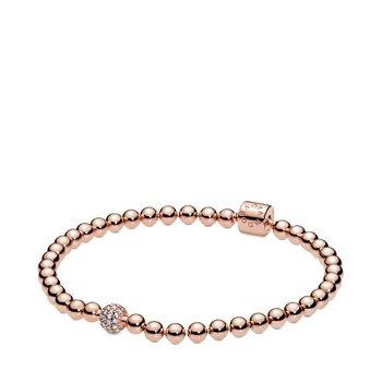 """Beads & Pavé Bracelet, 7.5"""""""