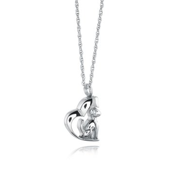 Heart Dog Urn Pendant