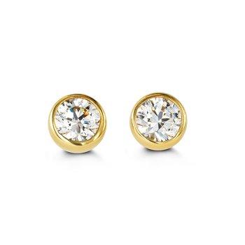14K CZ Stud Earrings