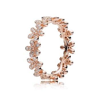 Dazzling Daisy Band Ring, size 7.0