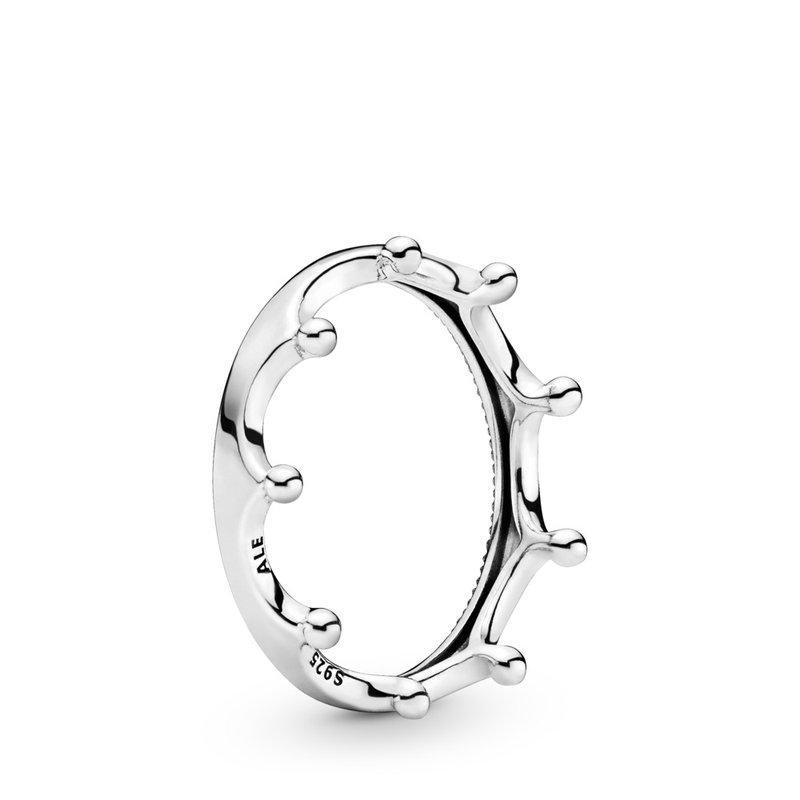Pandora Polished Crown Ring, size 7.5