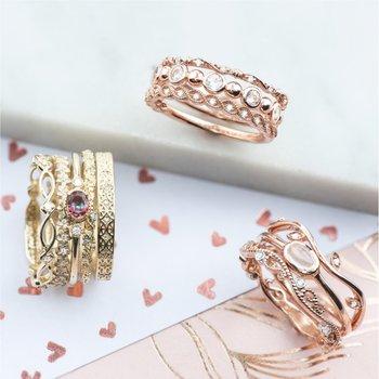 10k Rose Gold Moonstone Ring