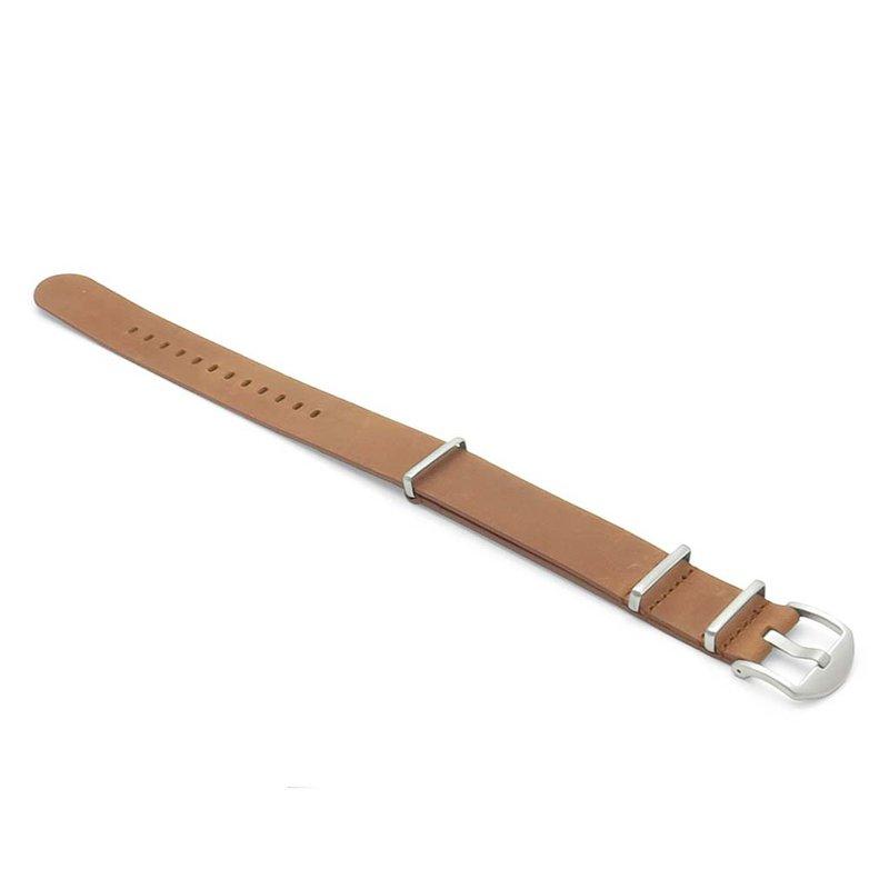 StrapsCo Leather Nato Strap, 22mm