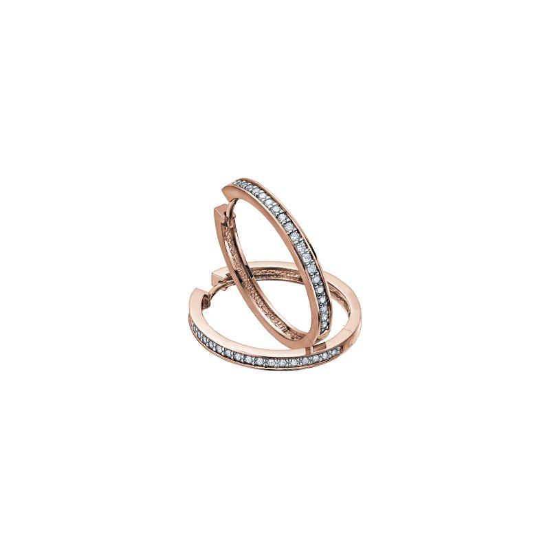 Diamond Days 10K Diamond Hoop Earrings, 0.10ct