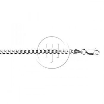 """Sterling Silver Curb Link Chain - 18"""""""
