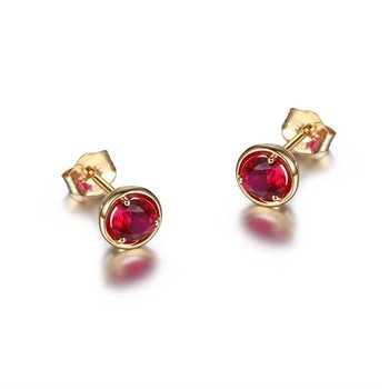 10K Gold July Birthstone Earrings