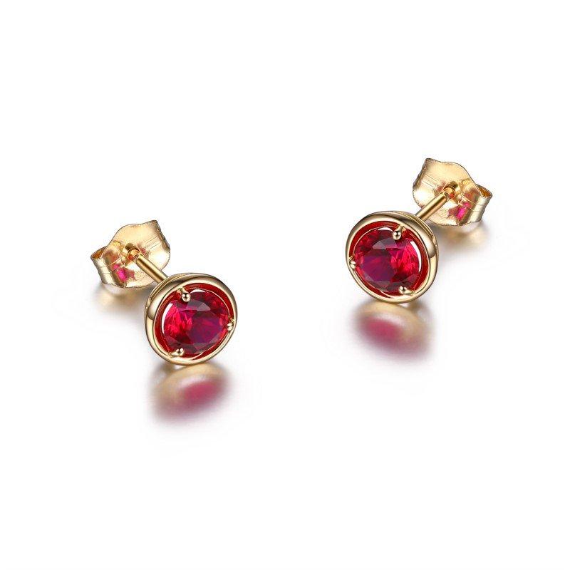 Reign 10K Gold July Birthstone Earrings