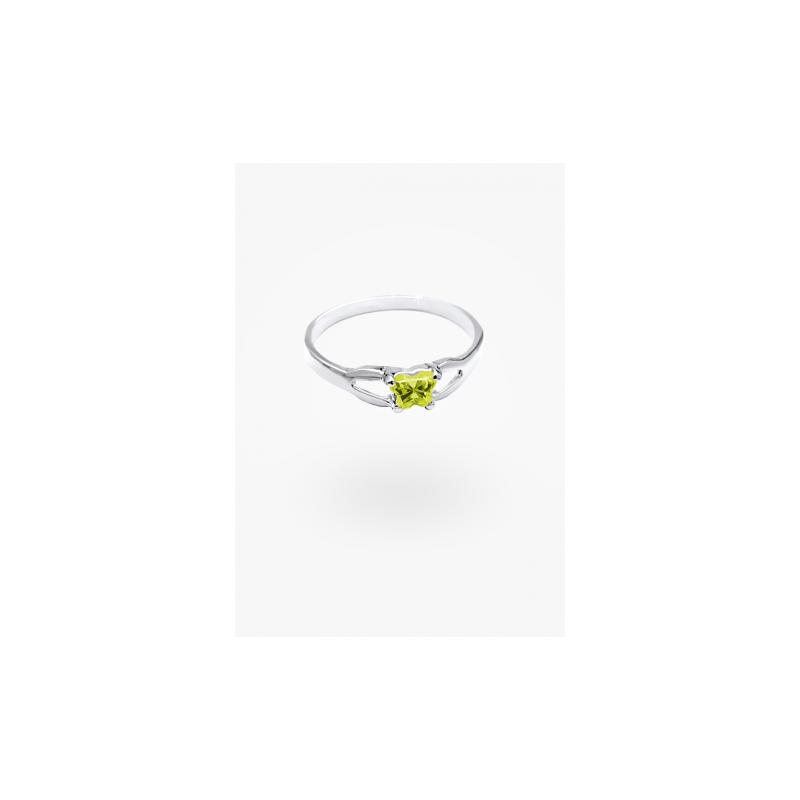 Bfly August Birthstone Ring Sz 4