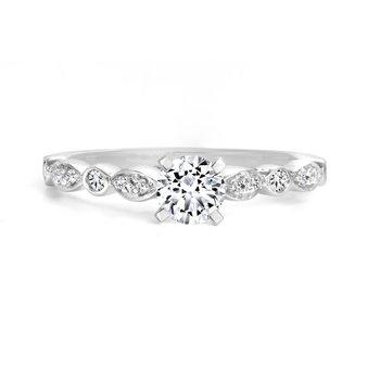 14K Engagement Ring, 0.50 TDW