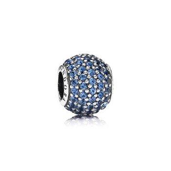 Blue Pavé Ball Charm - FINAL SALE